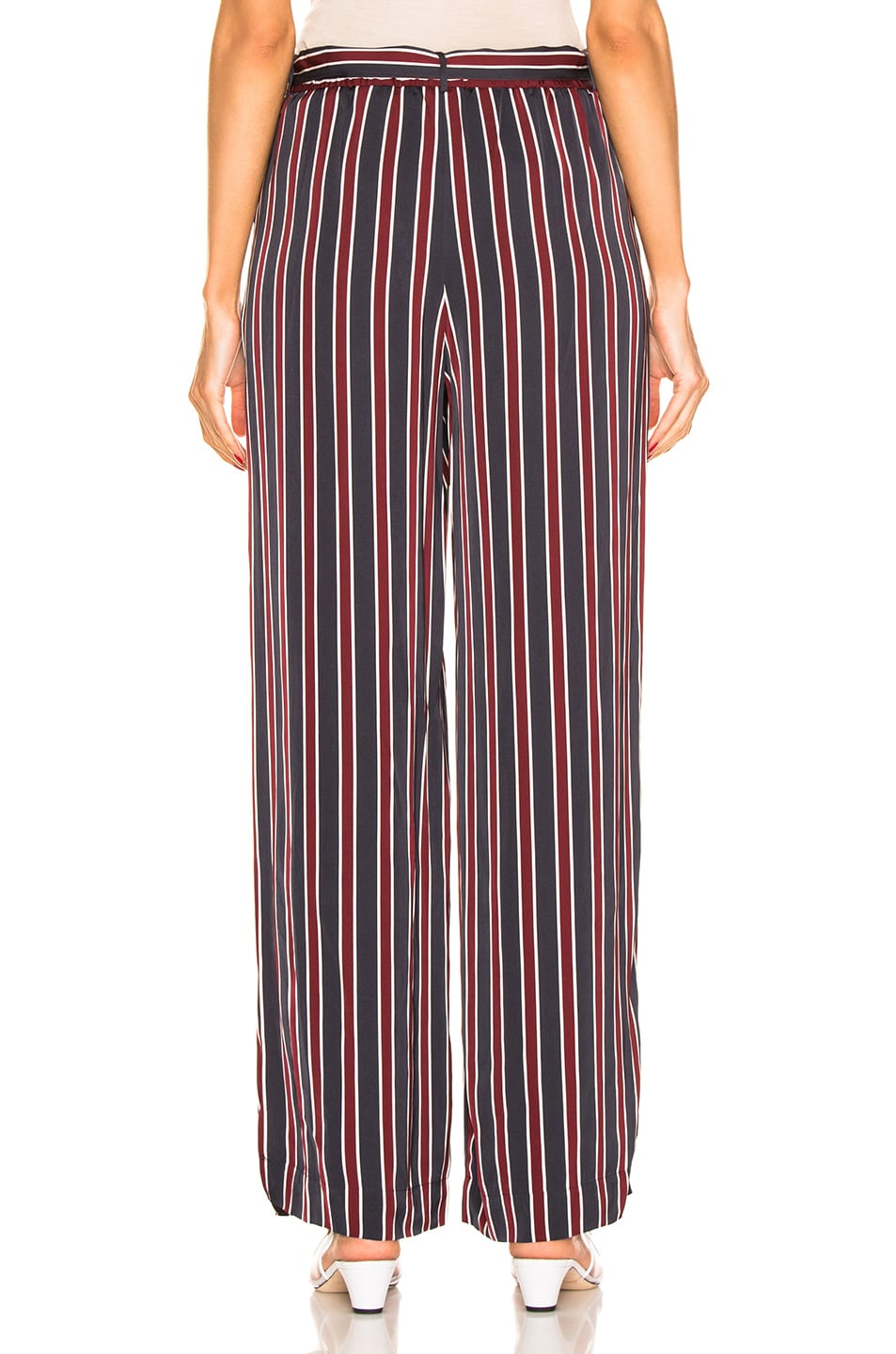 Image 3 of FRAME Side Slit Easy Pant in Navy Multi