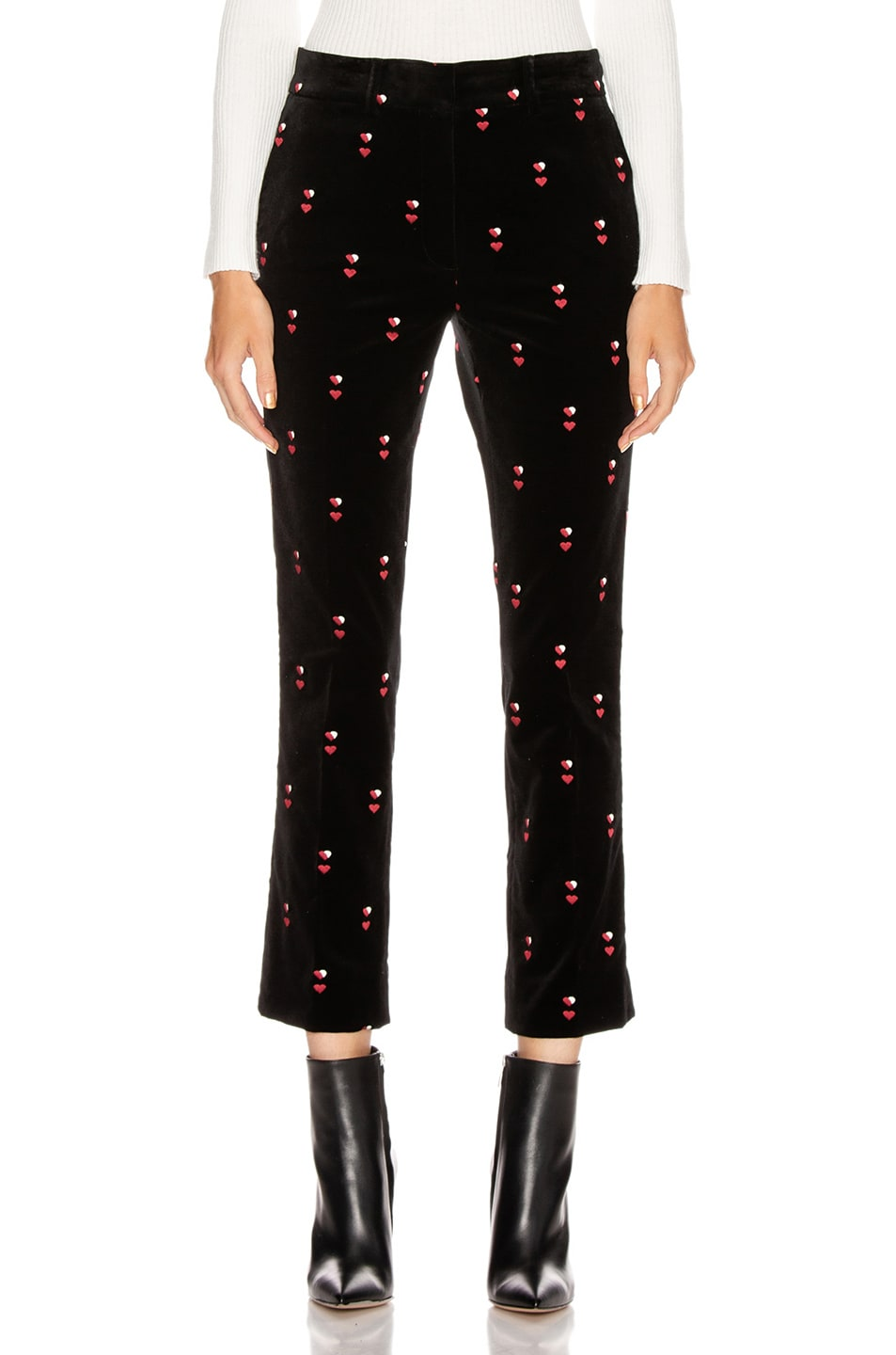 Image 1 of FRAME Cropped Perfect Trouser in Noir Multi