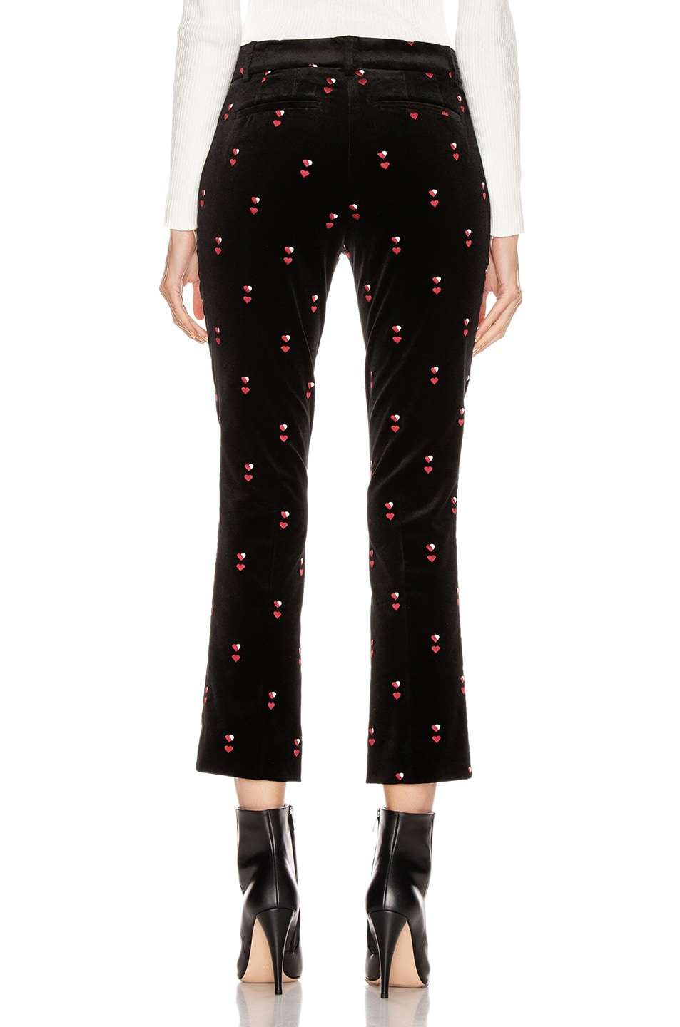 Image 3 of FRAME Cropped Perfect Trouser in Noir Multi