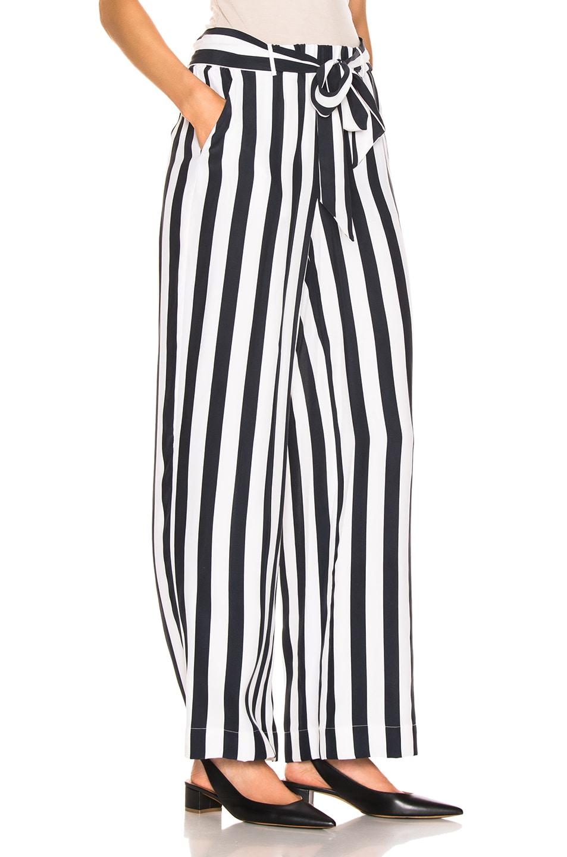 Image 2 of FRAME Stripe Easy Pant in Navy Multi