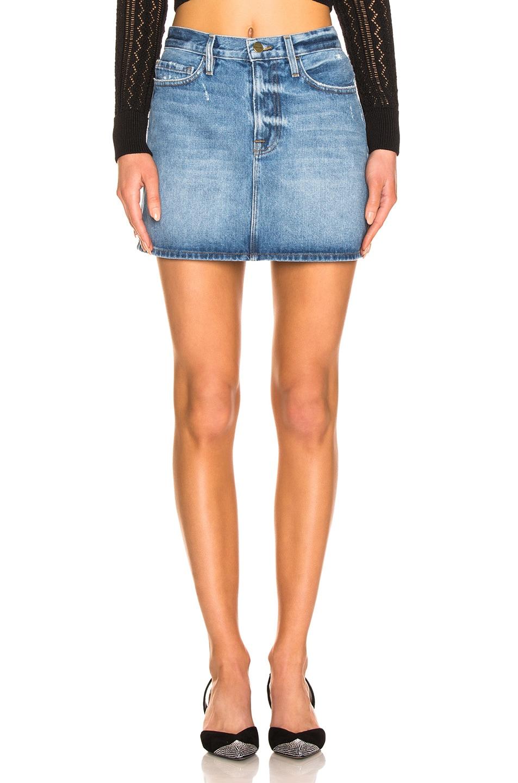 Image 1 of FRAME Le Mini Skirt in Majorelle