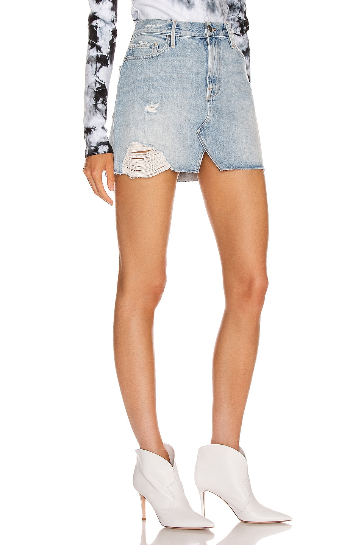 Image 2 of FRAME Le Mini Skirt Split Front in Soho
