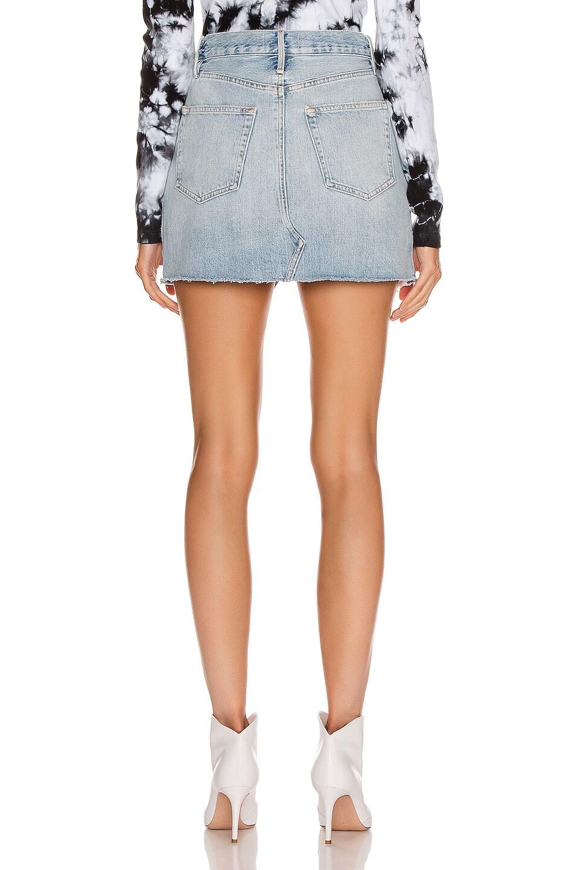 Image 3 of FRAME Le Mini Skirt Split Front in Soho