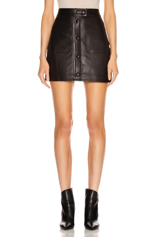 Image 1 of FRAME Patch Pocket Skirt in Noir
