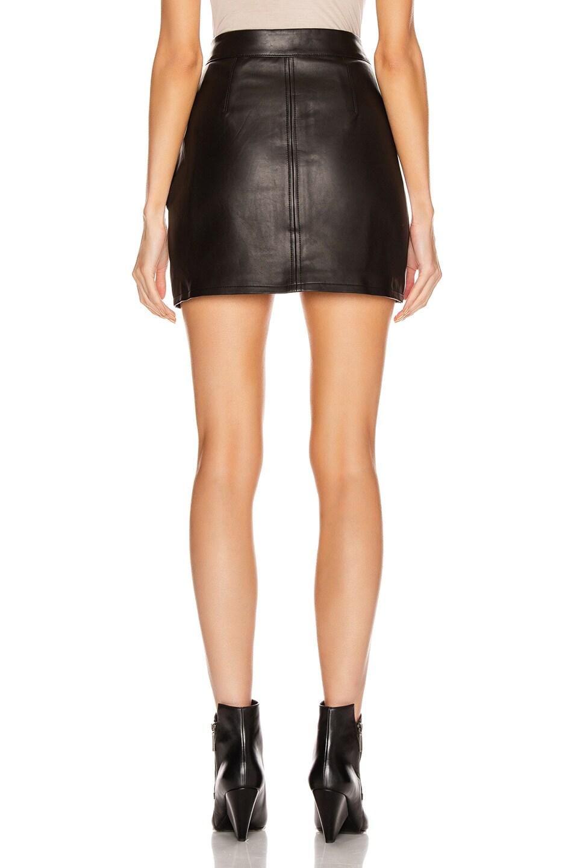 Image 3 of FRAME Patch Pocket Skirt in Noir