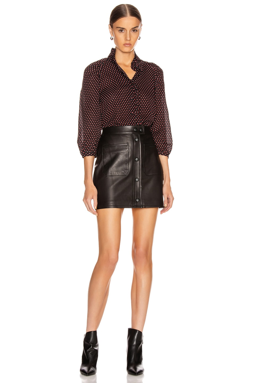 Image 4 of FRAME Patch Pocket Skirt in Noir