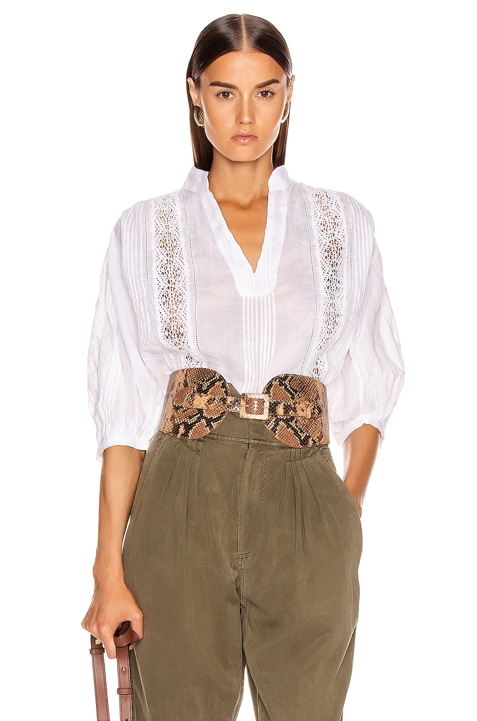 Frame Accessories Cali Lace Popover Top