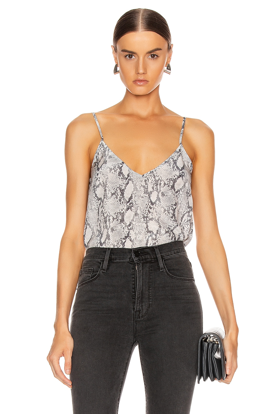 Image 1 of FRAME Classic Cami in Gris Multi
