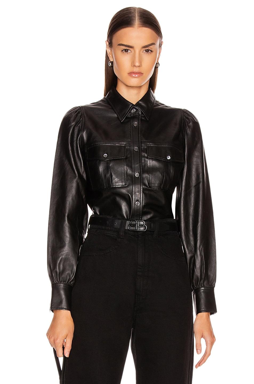 Image 1 of FRAME Feminine Military 70's Shirt in Noir