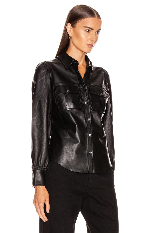 Image 2 of FRAME Feminine Military 70's Shirt in Noir