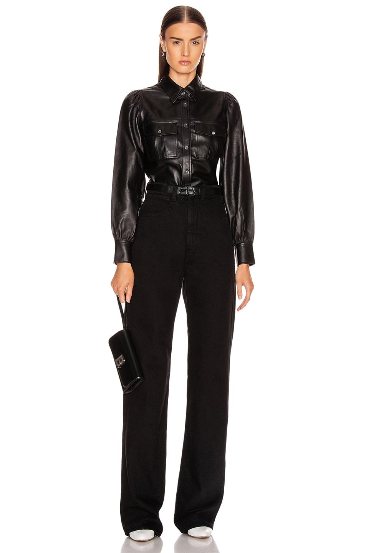 Image 4 of FRAME Feminine Military 70's Shirt in Noir