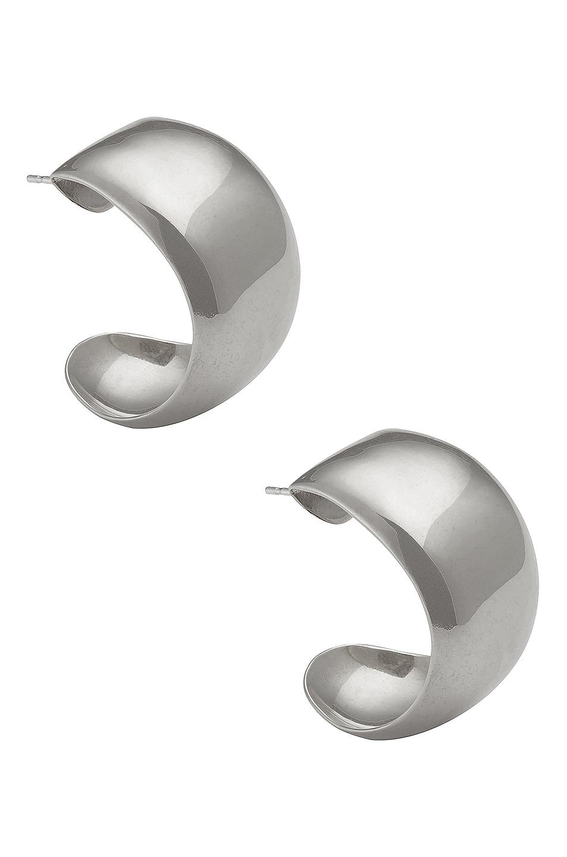 Image 1 of Fay Andrada Koko Medium Hoop Earrings in Silver