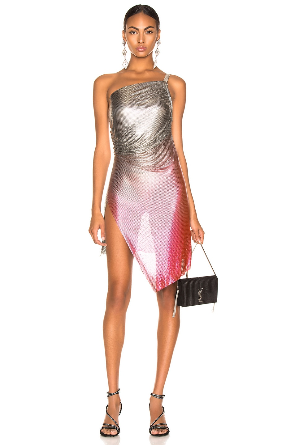 Image 1 of FANNIE SCHIAVONI for FWRD Lola Dress in Silver & Pink