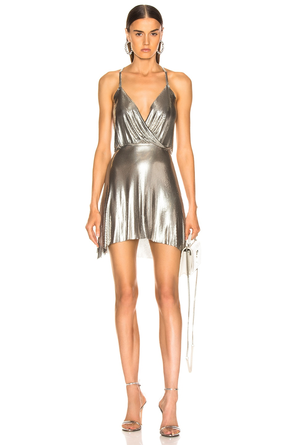 Image 1 of FANNIE SCHIAVONI Jourdana Dress in Silver