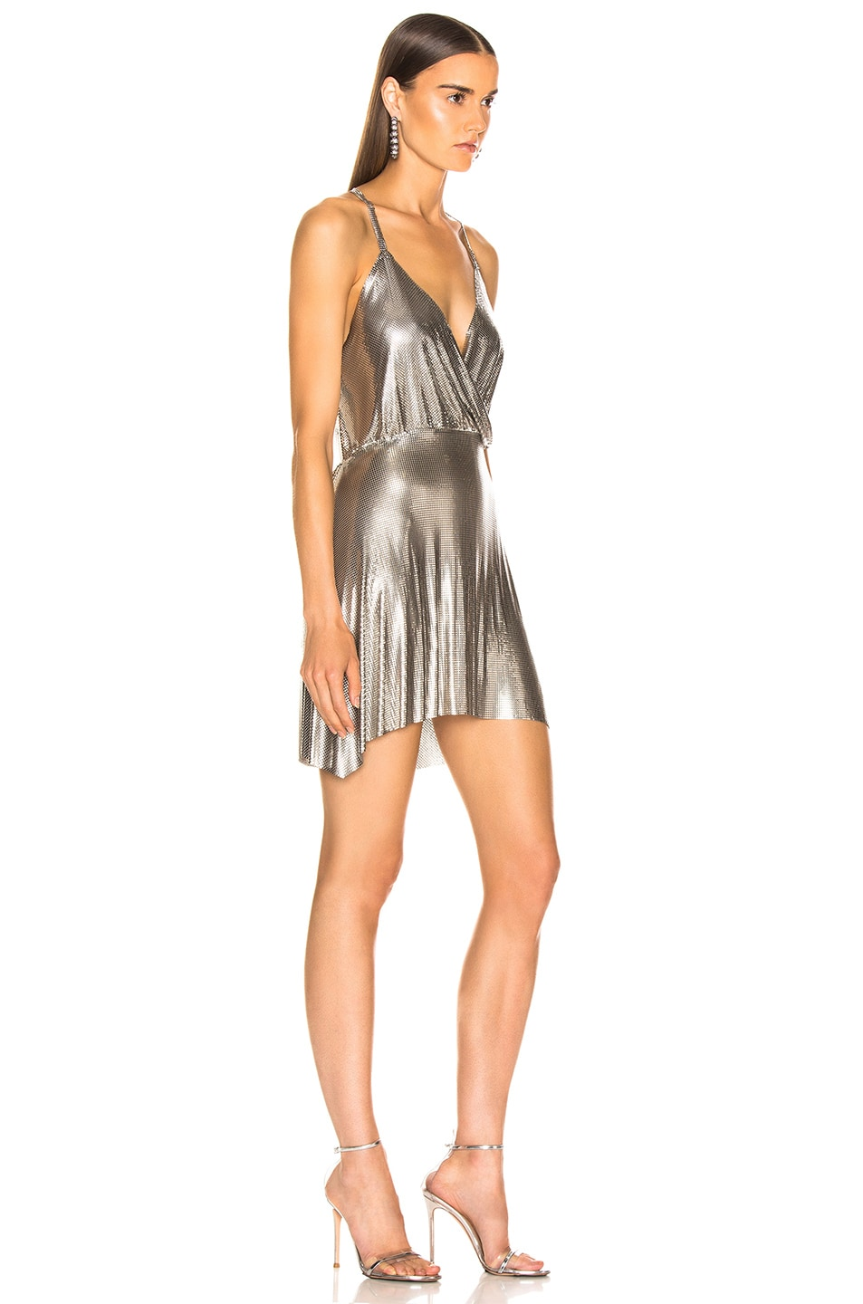 Image 2 of FANNIE SCHIAVONI Jourdana Dress in Silver