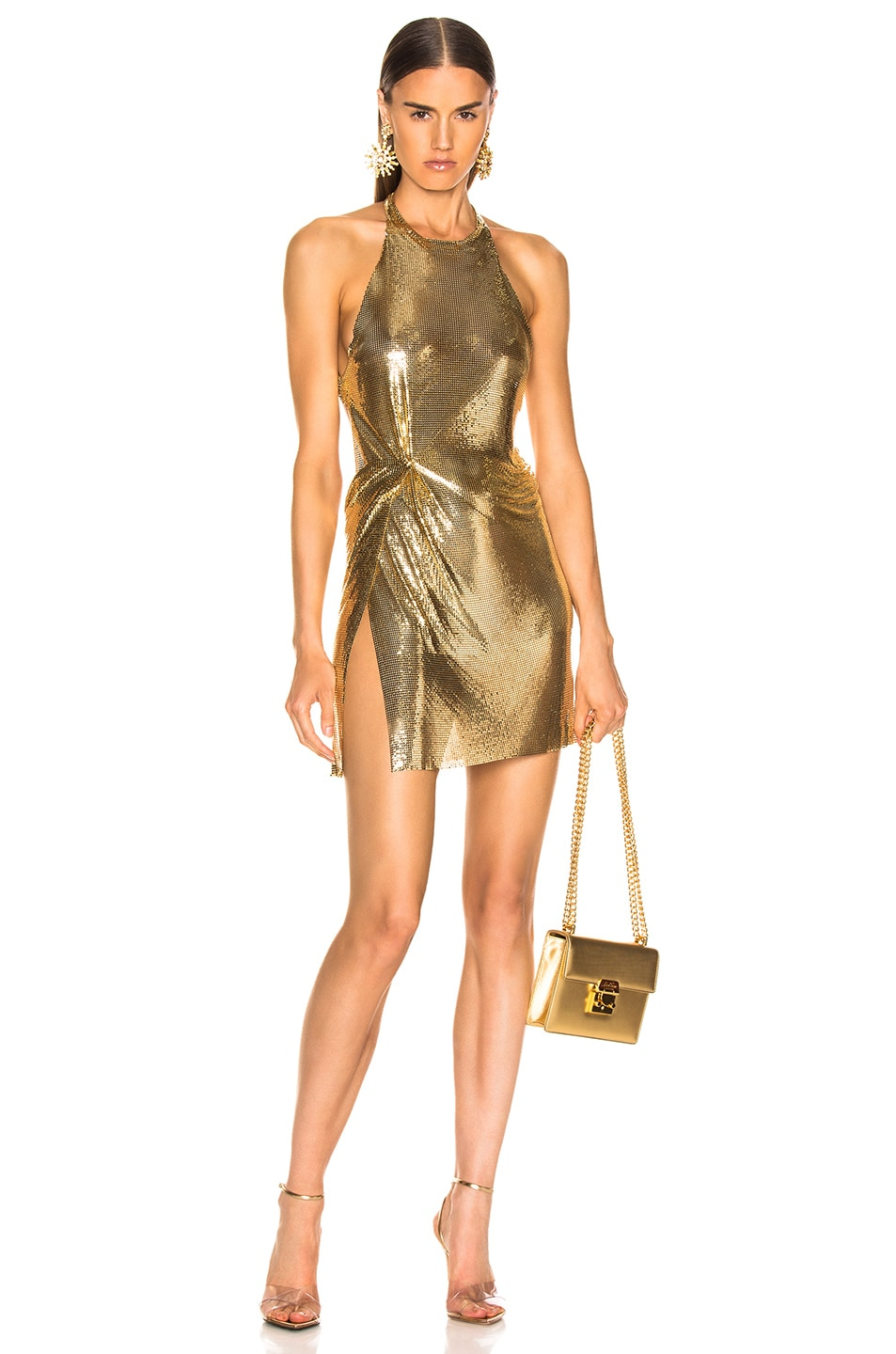 Image 1 of FANNIE SCHIAVONI Alicia Dress in 18K Gold