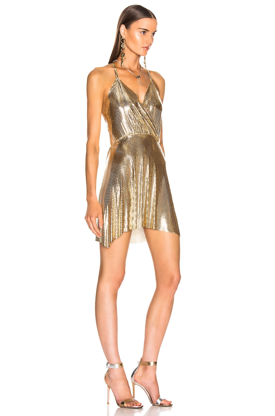 Image 2 of FANNIE SCHIAVONI Clemence Dress in 18K Gold Plated