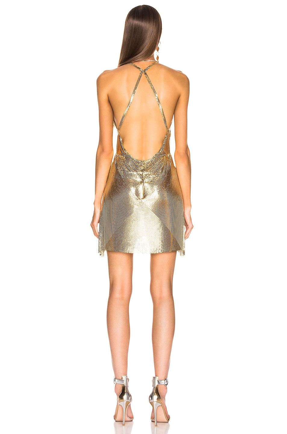 Image 3 of FANNIE SCHIAVONI Clemence Dress in 18K Gold Plated