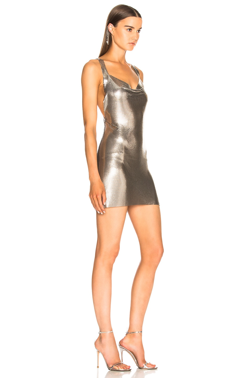 Image 2 of FANNIE SCHIAVONI Metal Mesh Dress in Silver