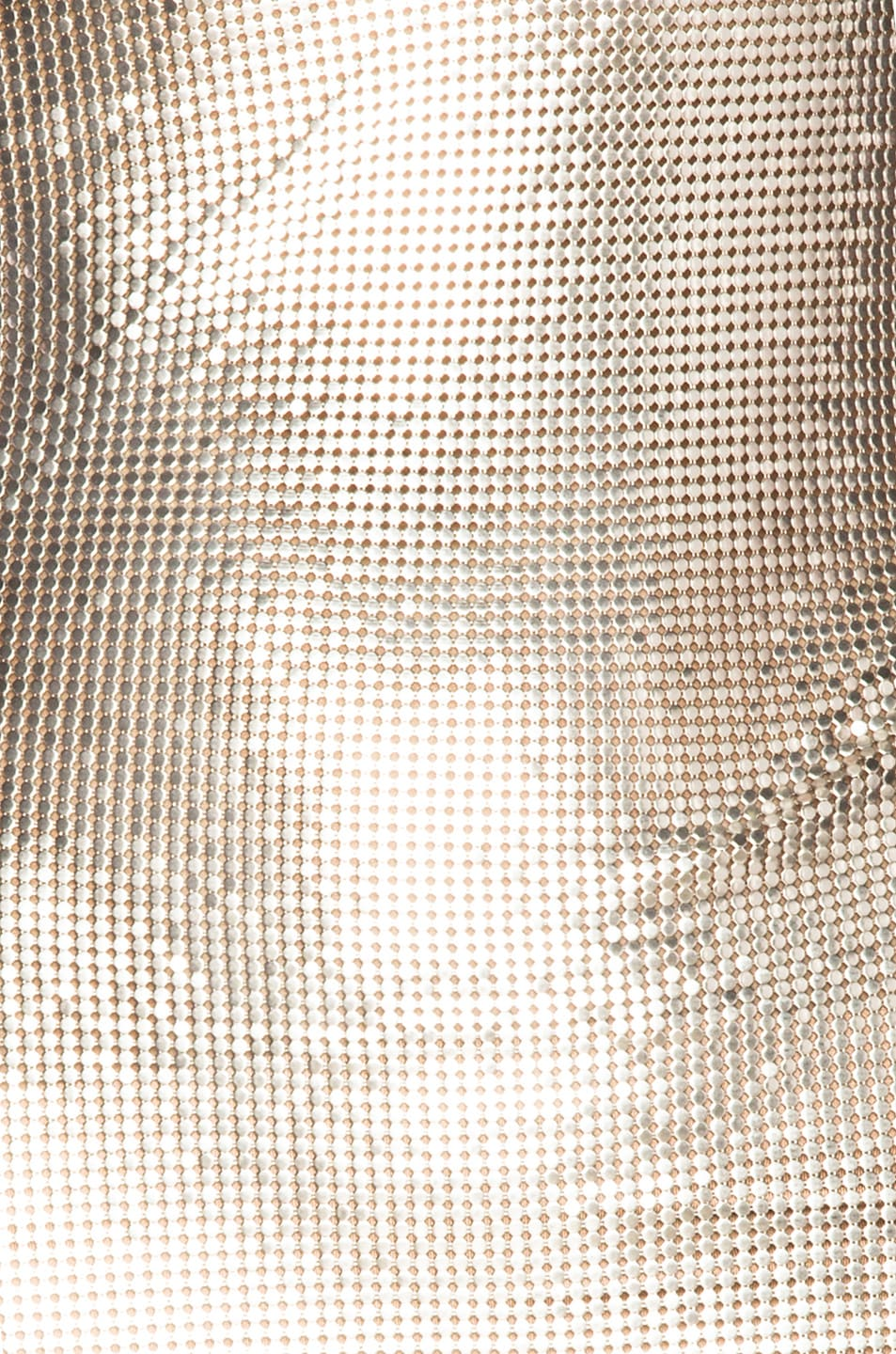 Image 4 of FANNIE SCHIAVONI Metal Mesh Dress in Silver