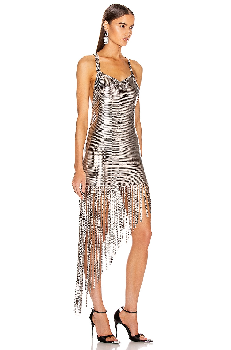 Image 2 of FANNIE SCHIAVONI Saoirse Dress in Silver