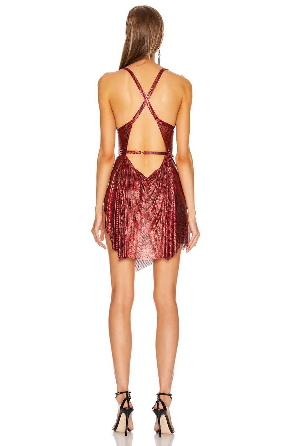 Image 4 of FANNIE SCHIAVONI Fran Dress in Red