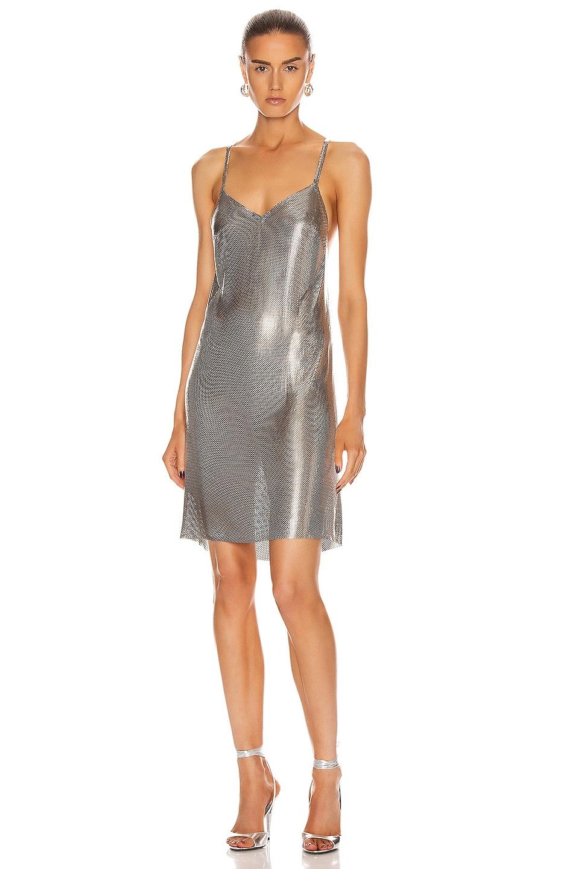 Image 1 of FANNIE SCHIAVONI Alexandria Dress in Silver