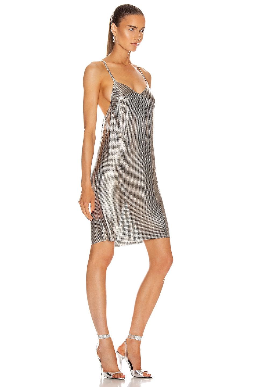 Image 2 of FANNIE SCHIAVONI Alexandria Dress in Silver