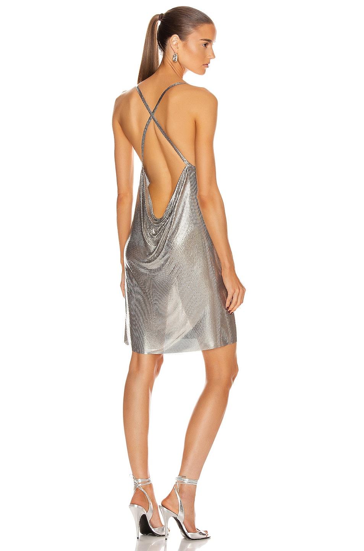 Image 3 of FANNIE SCHIAVONI Alexandria Dress in Silver