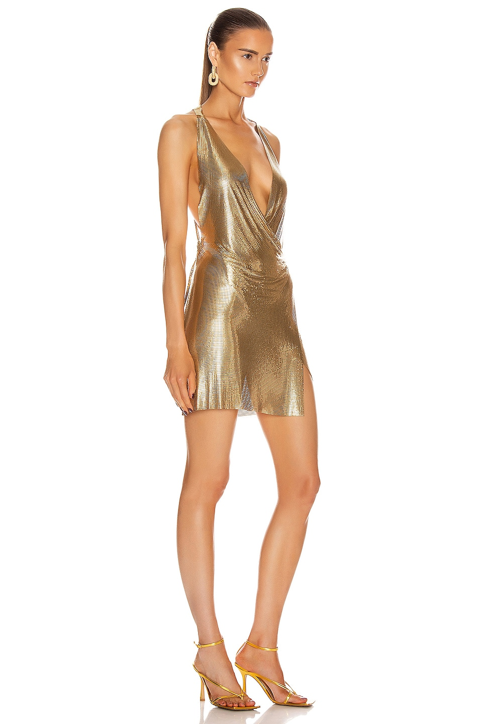 Image 2 of FANNIE SCHIAVONI Maia Dress in Gold