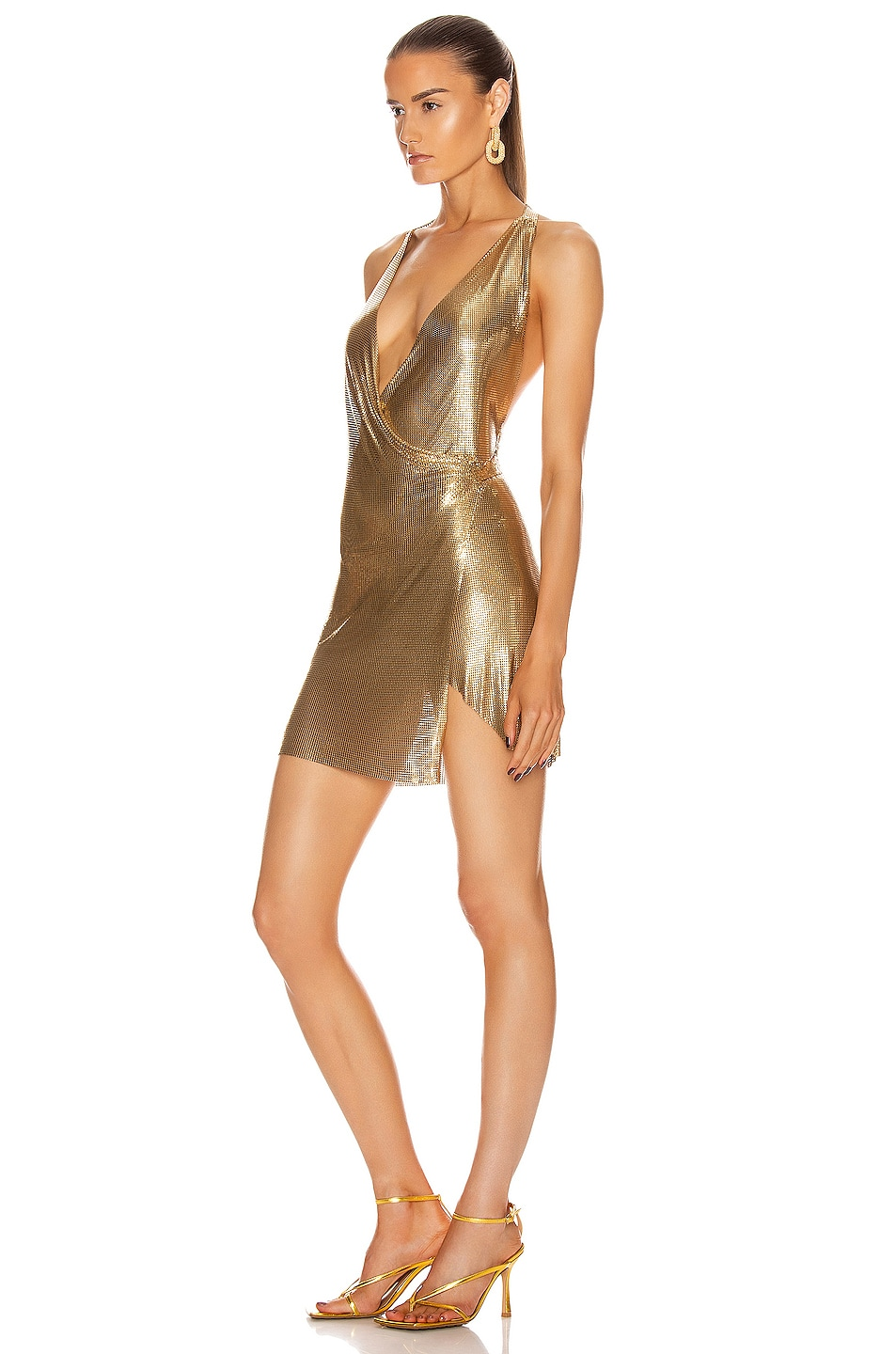 Image 3 of FANNIE SCHIAVONI Maia Dress in Gold