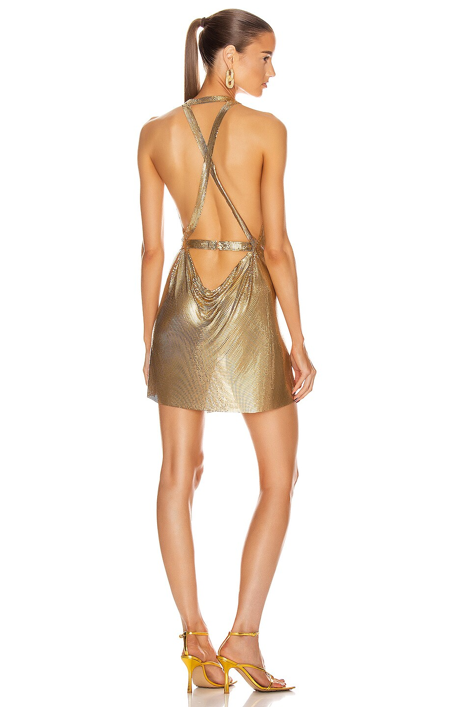 Image 4 of FANNIE SCHIAVONI Maia Dress in Gold