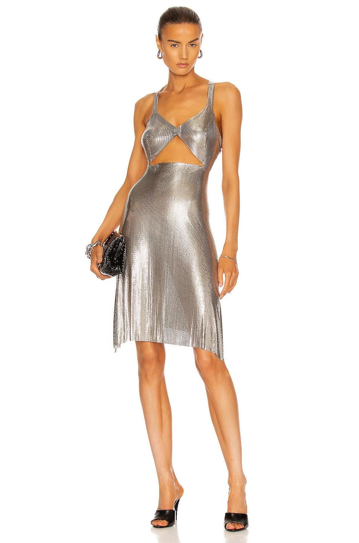 Image 1 of FANNIE SCHIAVONI Amira Dress in Silver
