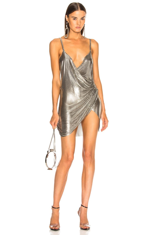 Image 1 of FANNIE SCHIAVONI Mesh Dress in Silver