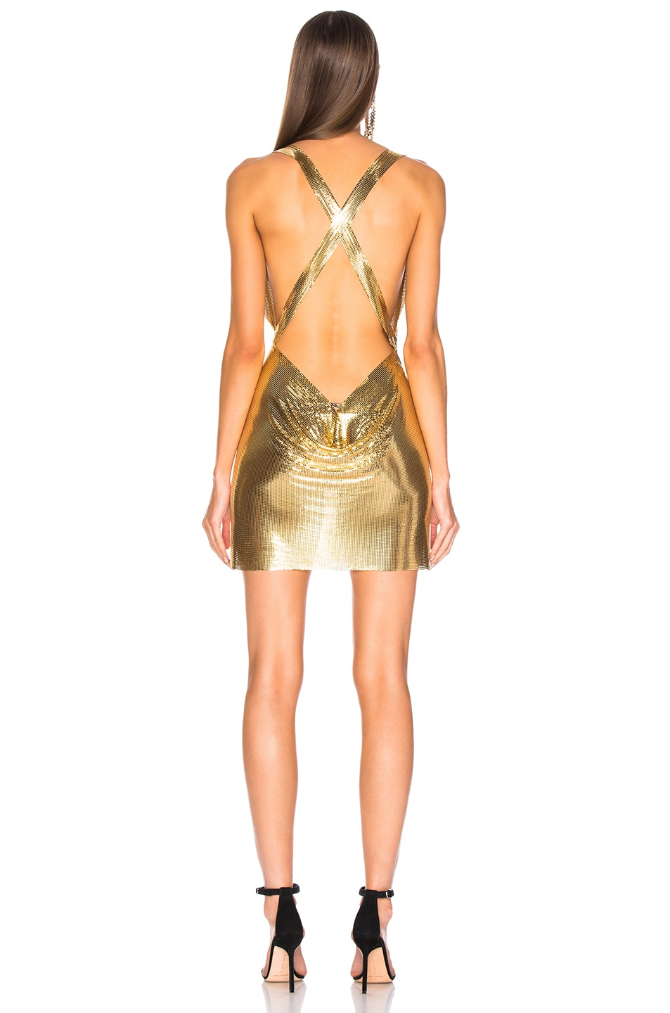 Image 3 of FANNIE SCHIAVONI Metal Mesh Dress in Gold