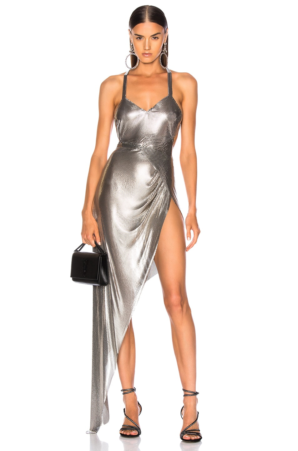 Image 1 of FANNIE SCHIAVONI Izabel Dress in Silver