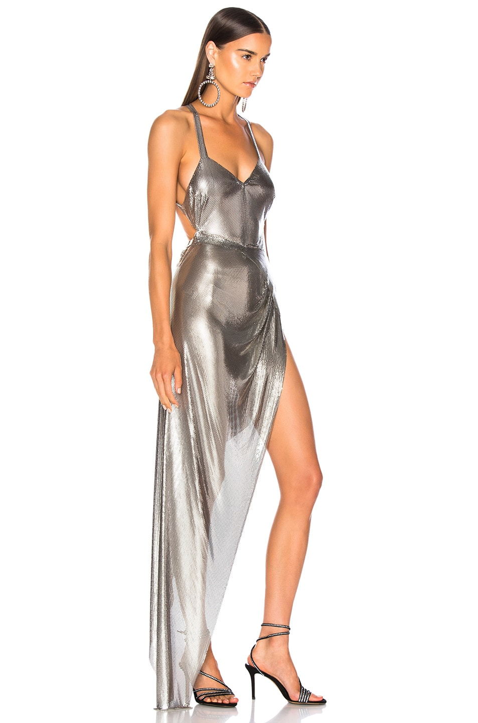 Image 2 of FANNIE SCHIAVONI Izabel Dress in Silver