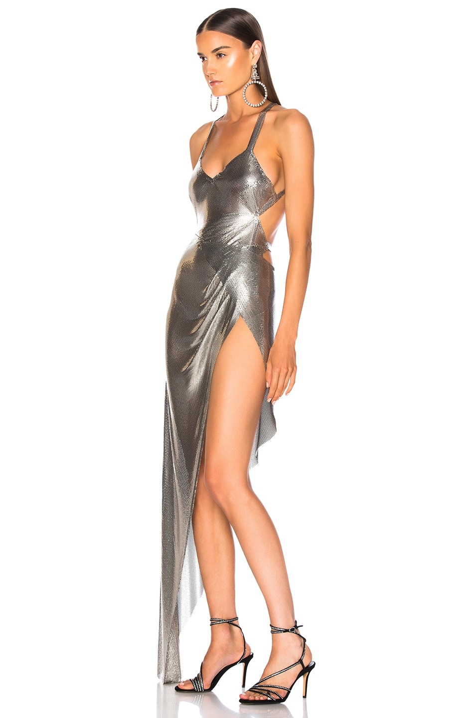Image 3 of FANNIE SCHIAVONI Izabel Dress in Silver