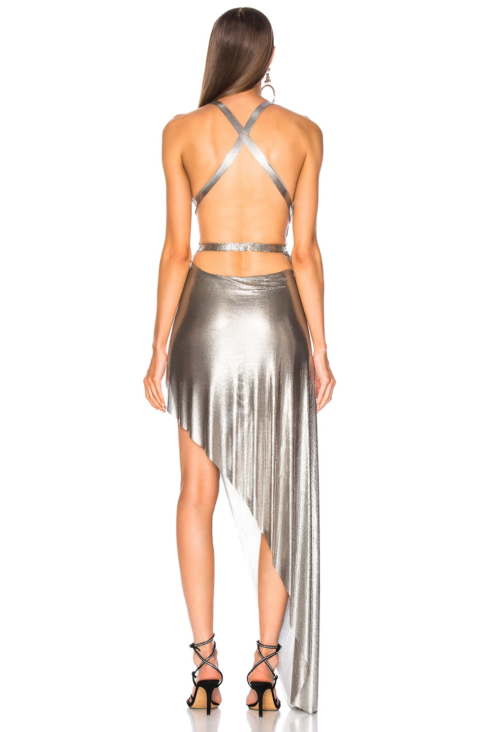 Image 4 of FANNIE SCHIAVONI Izabel Dress in Silver