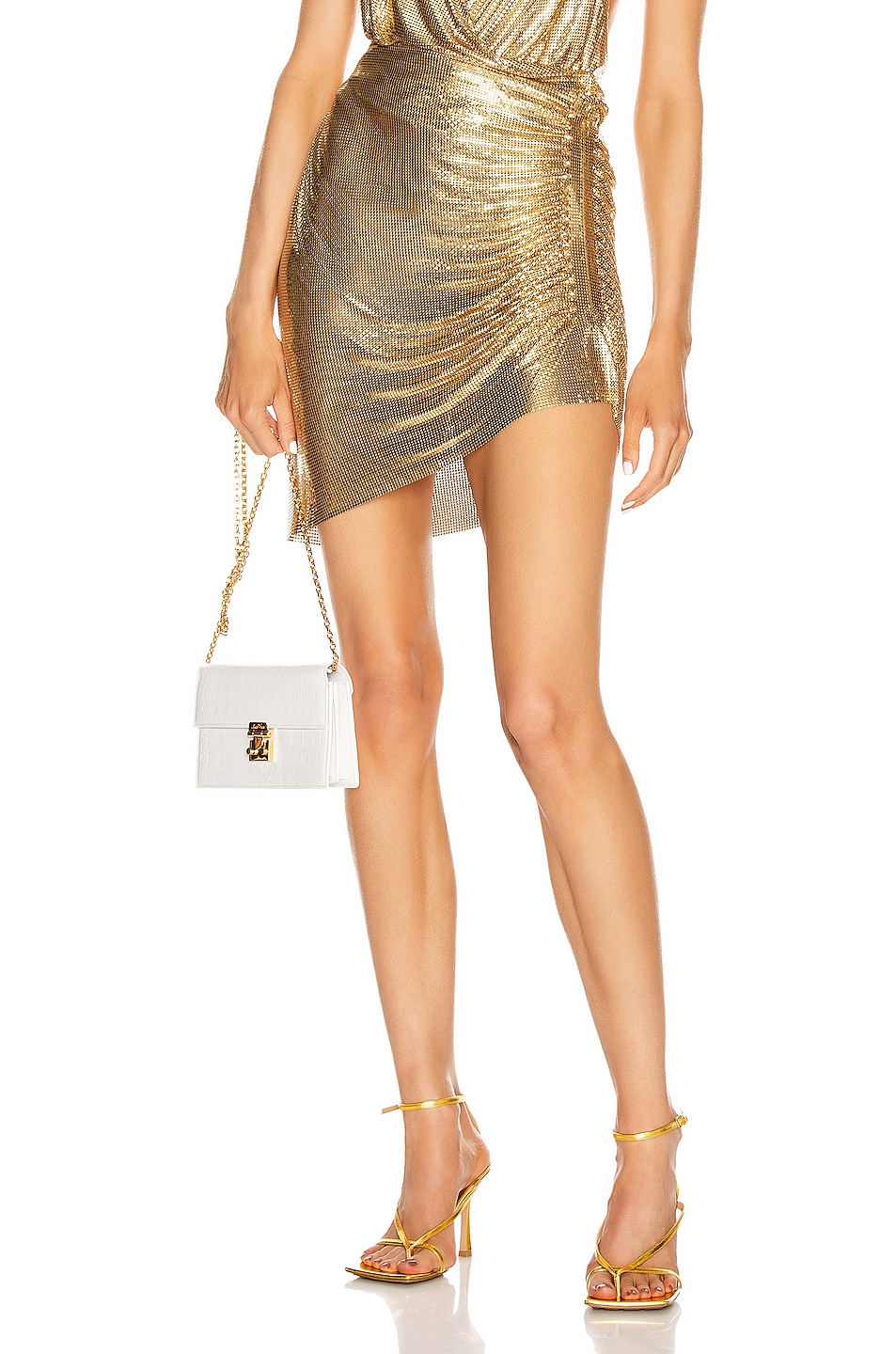 Image 1 of FANNIE SCHIAVONI Ciara Skirt in Gold