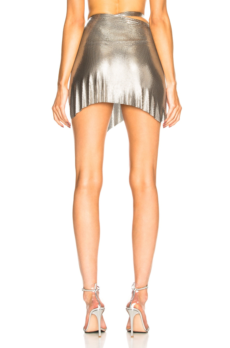 Image 4 of FANNIE SCHIAVONI Mesh Skirt in Silver