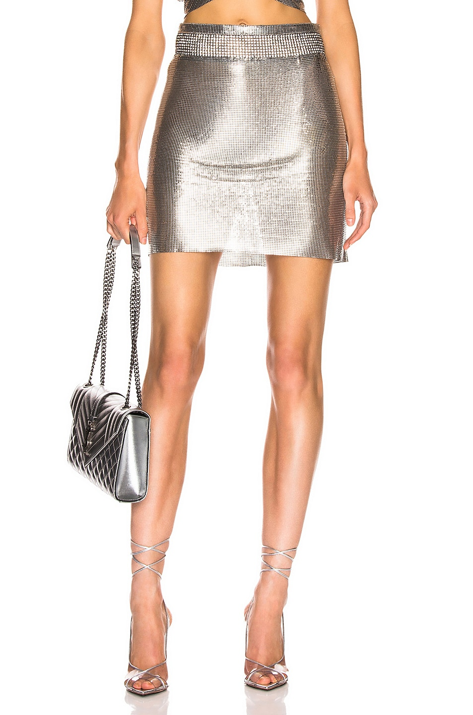 Image 1 of FANNIE SCHIAVONI Malin Skirt in Silver