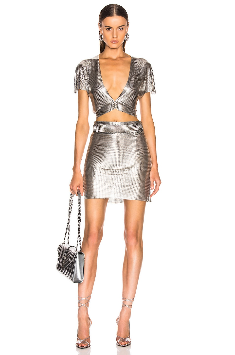 Image 4 of FANNIE SCHIAVONI Malin Skirt in Silver