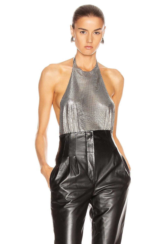 Image 1 of FANNIE SCHIAVONI Alicia Top in Silver
