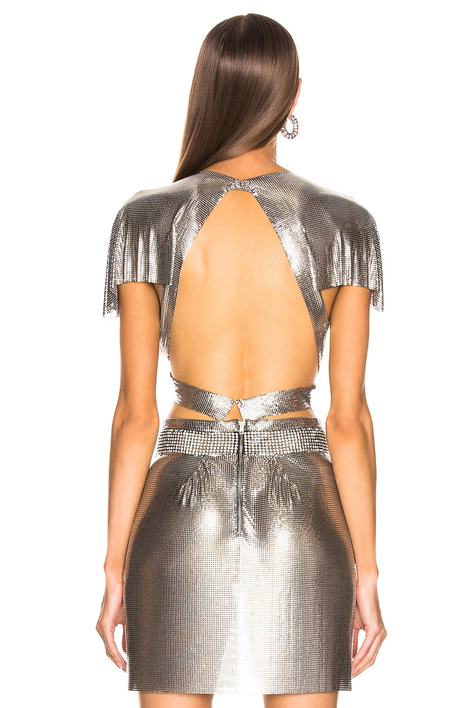 Image 3 of FANNIE SCHIAVONI Diane Top in Silver