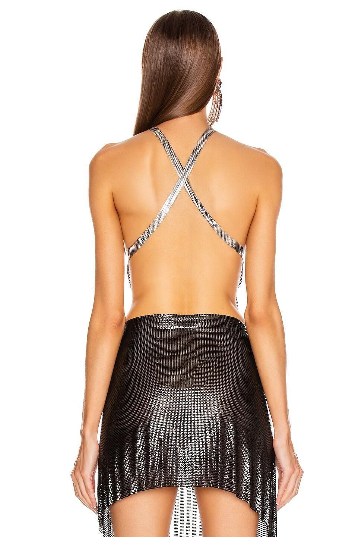 Image 3 of FANNIE SCHIAVONI Jaime Top in Silver & Black
