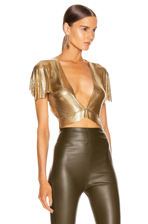 Image 2 of FANNIE SCHIAVONI Diane Top in Gold