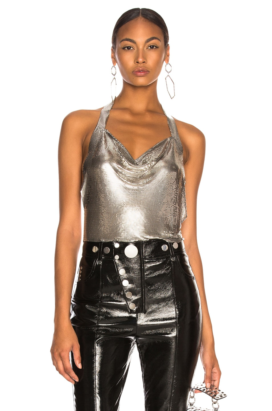 Image 1 of FANNIE SCHIAVONI Crystal Top in Silver