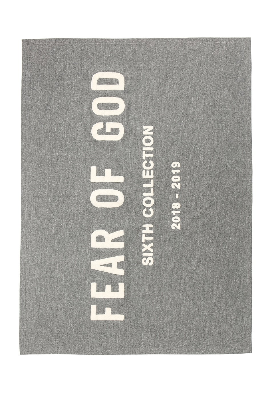 Image 1 of Fear of God Chenille Embroidered Throw in Heather Grey