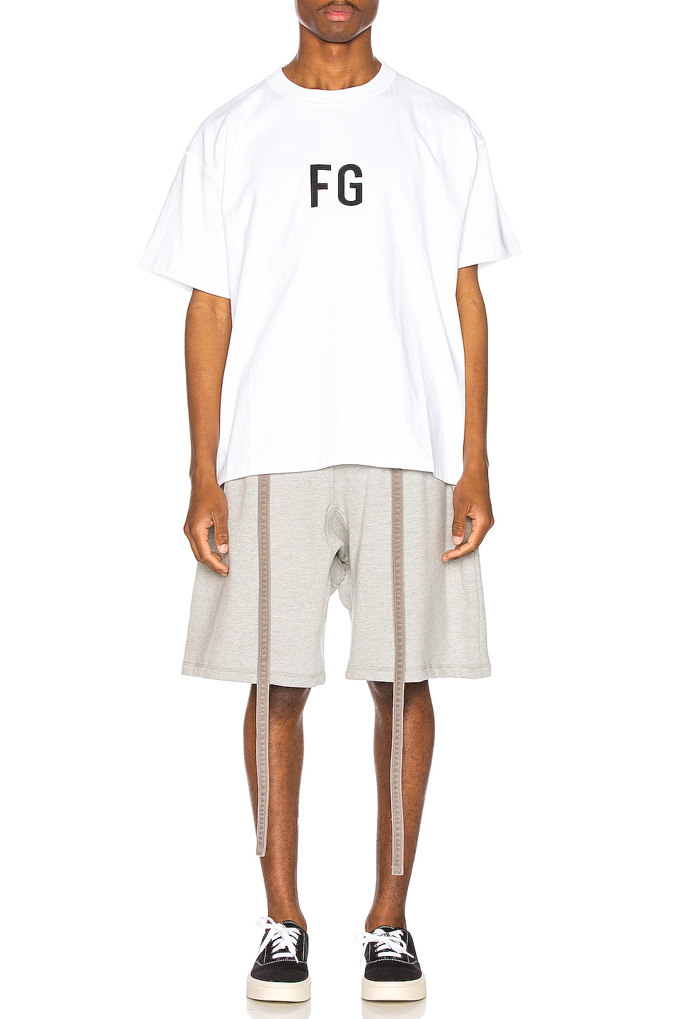 Image 4 of Fear of God Lounge Short in Heather Grey